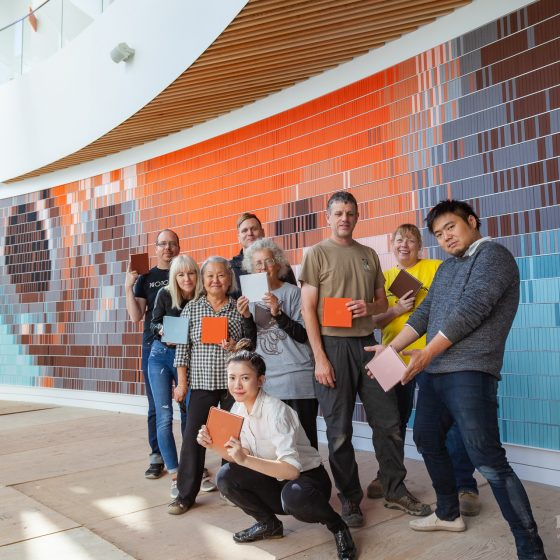 Team Photography Book Wall New Central Library MEDIAPOP Films