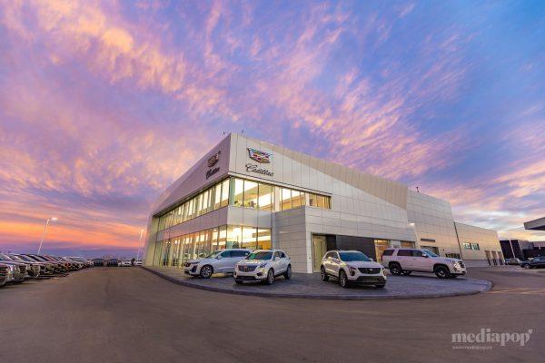 Photography Sunset Cadillac Dealership Calgary MEDIAPOP