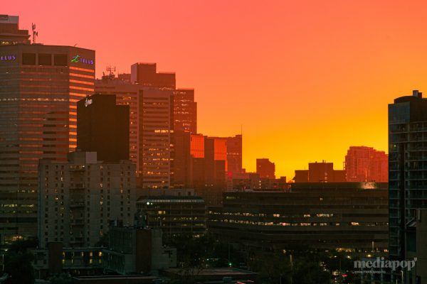 Calgary City Skyline Sunset MEDIAPOP Films
